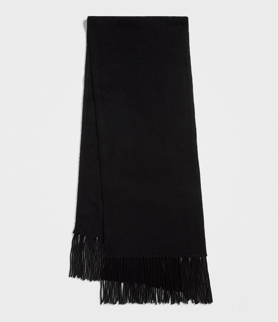 Womens Boiled Wool Scarf (black) - Image 2