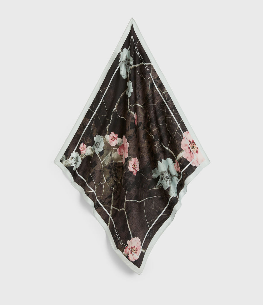Womens Hope Silk Bandana (black) - Image 2