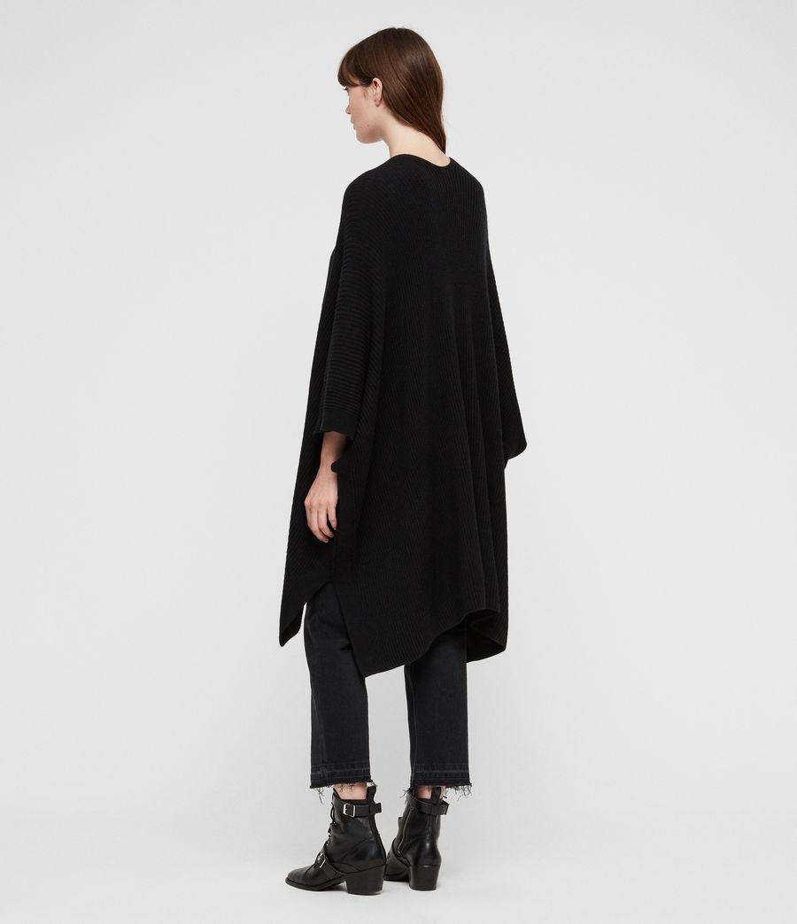 Femmes Cardigan Ruana (black) - Image 2