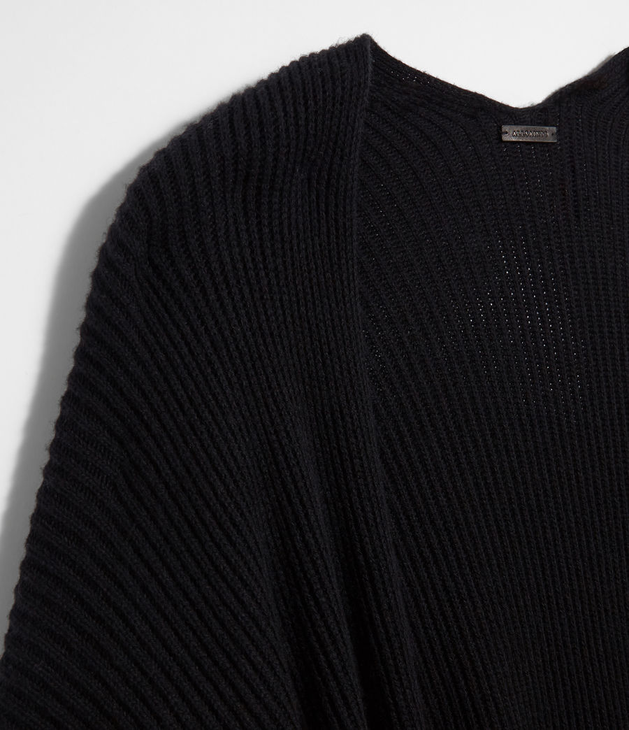 Femmes Cardigan Ruana (black) - Image 5