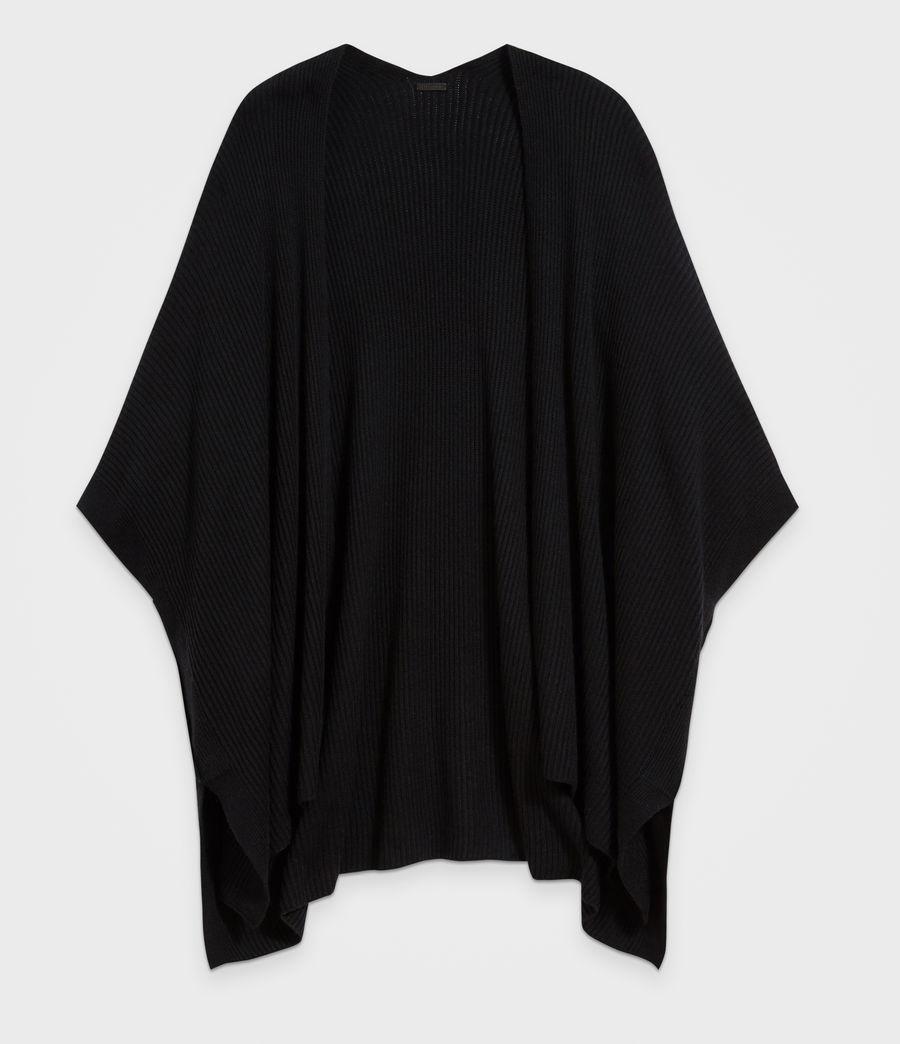 Femmes Cardigan Ruana (black) - Image 6