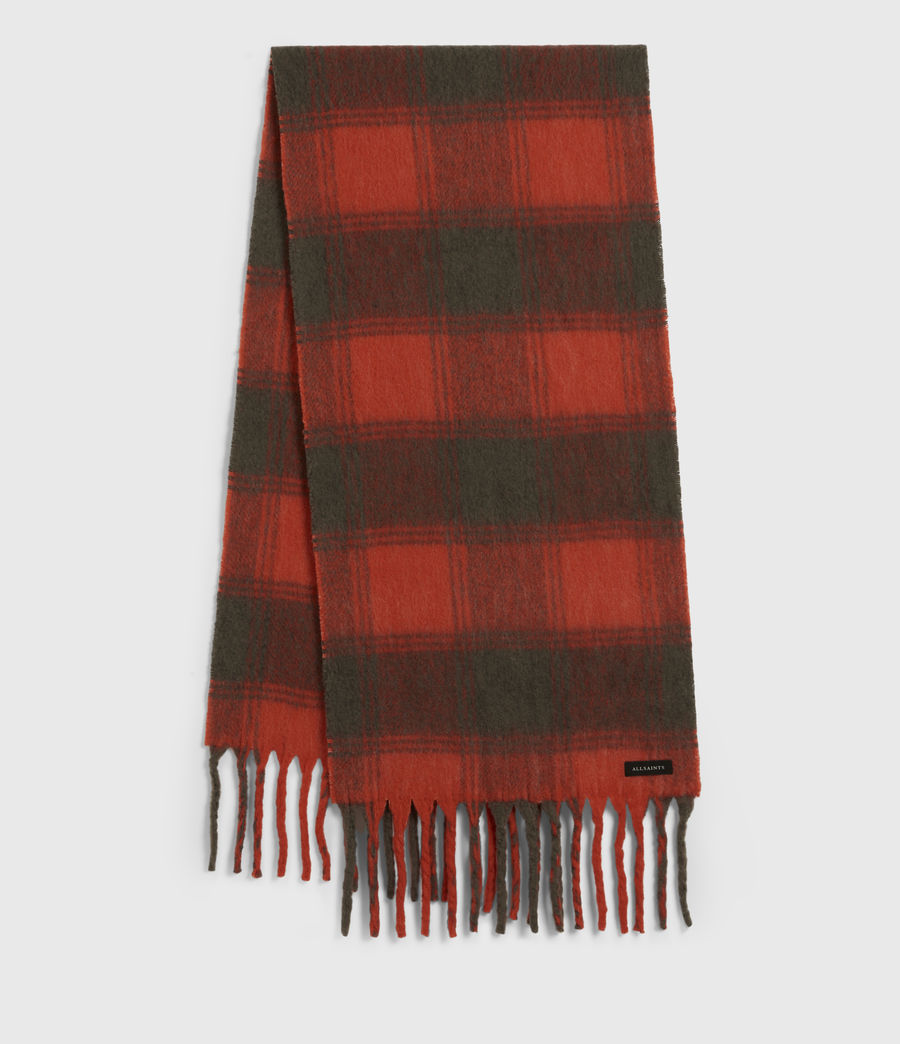 Women's Raven Dye Wool Blend Scarf (riot_red_charcoal) - Image 2