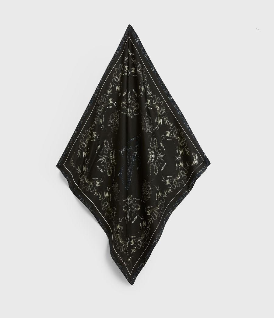 Women's Somnium Silk Bandana (black) - Image 2