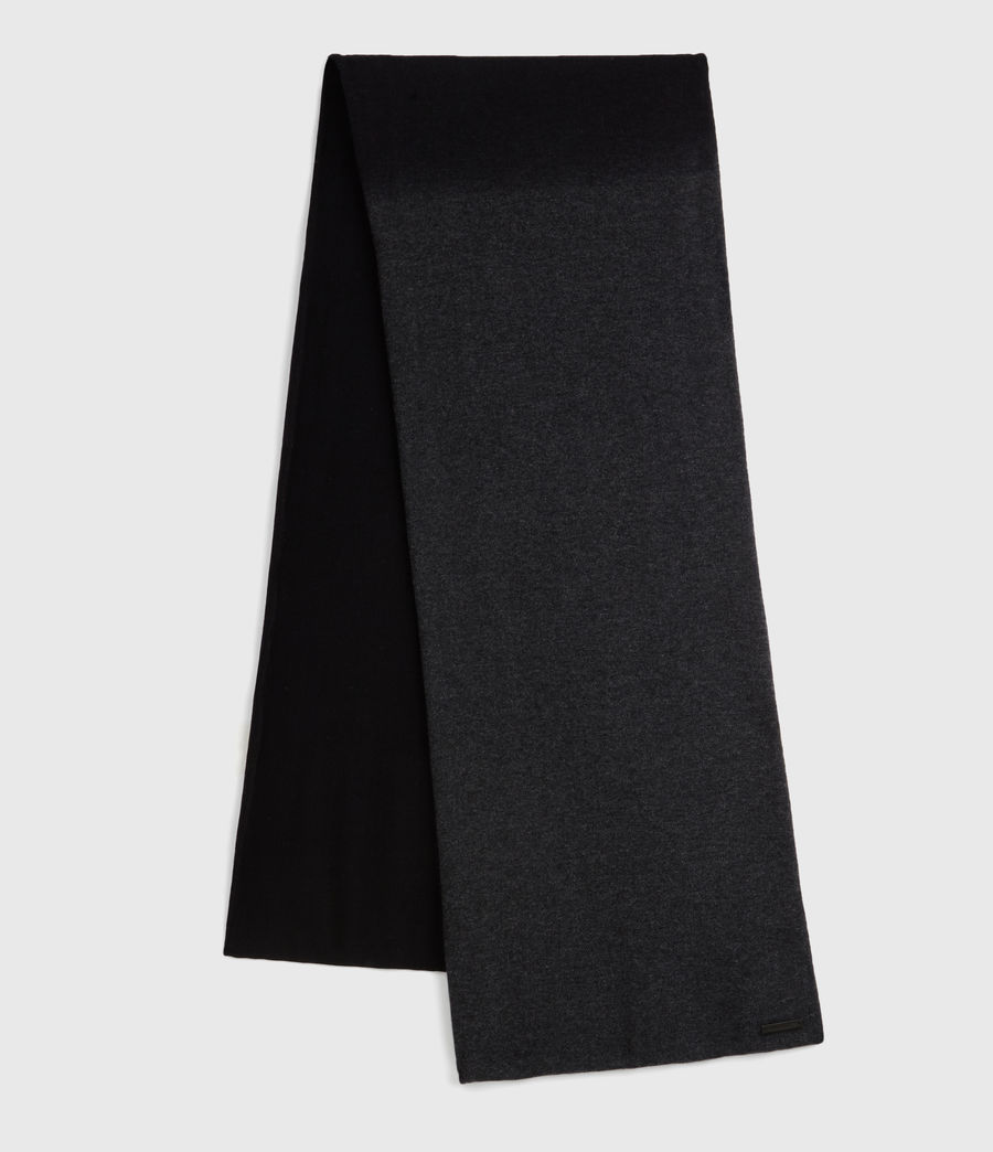 Womens Dip Dye Cashmere Blend Scarf (charcoal_black) - Image 1
