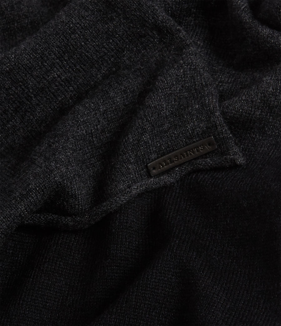 Womens Dip Dye Cashmere Blend Scarf (charcoal_black) - Image 4