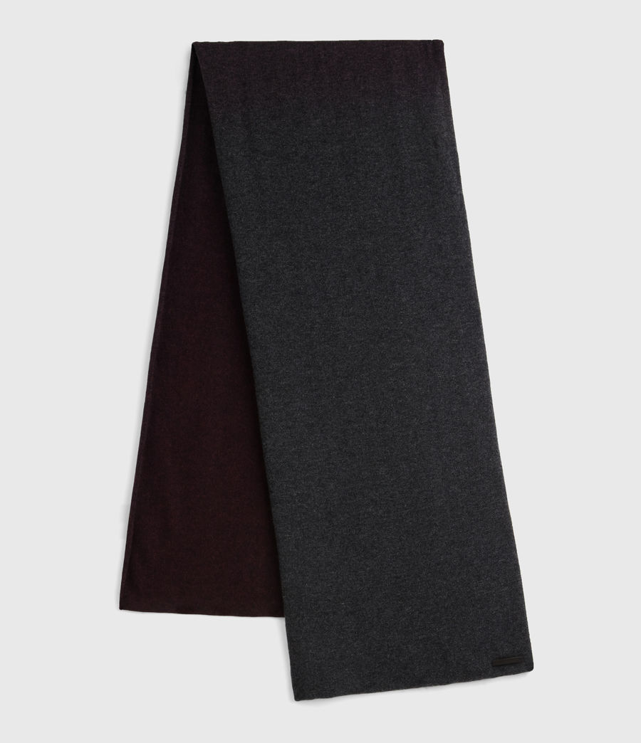 Women's Dip Dye Scarf (charcoal_port) - Image 1