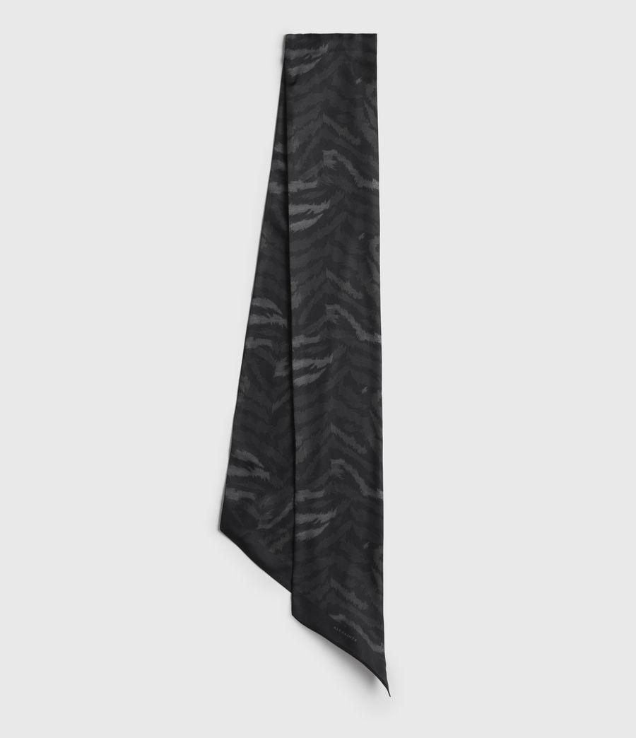 Womens Remix Silk Skinny Scarf (black) - Image 1