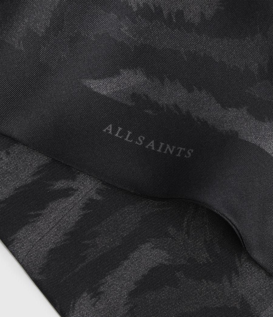Womens Remix Silk Skinny Scarf (black) - Image 2