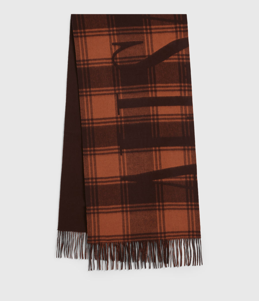 Womens Phoenix Wool Scarf (burnt_sienna_red) - Image 1