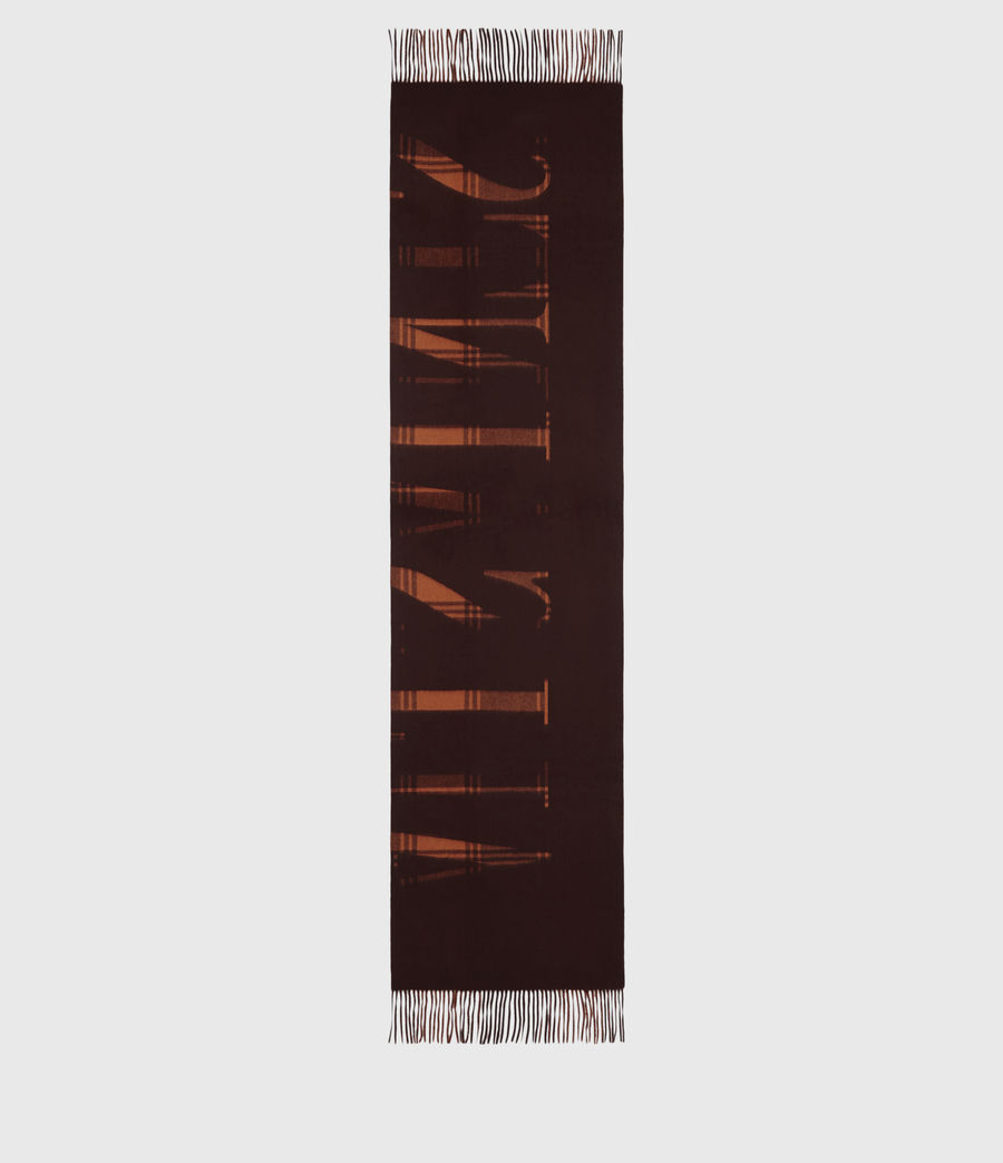Womens Phoenix Wool Scarf (burnt_sienna_red) - Image 3
