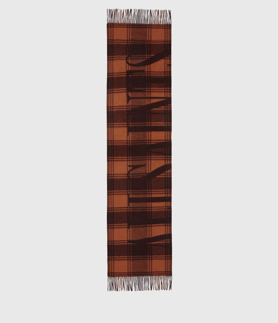 Womens Phoenix Wool Scarf (burnt_sienna_red) - Image 4