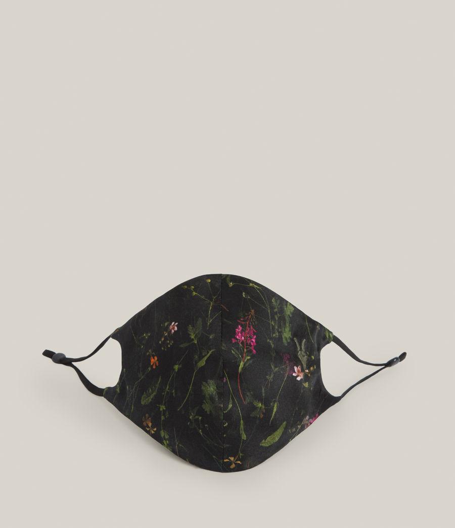 Women's Heligan Silk Blend Face Mask (black) - Image 1