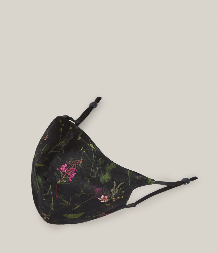 Women's Heligan Silk Blend Face Mask (black) - Image 3