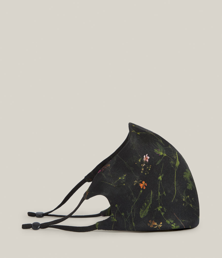 Women's Heligan Silk Blend Face Mask (black) - Image 4