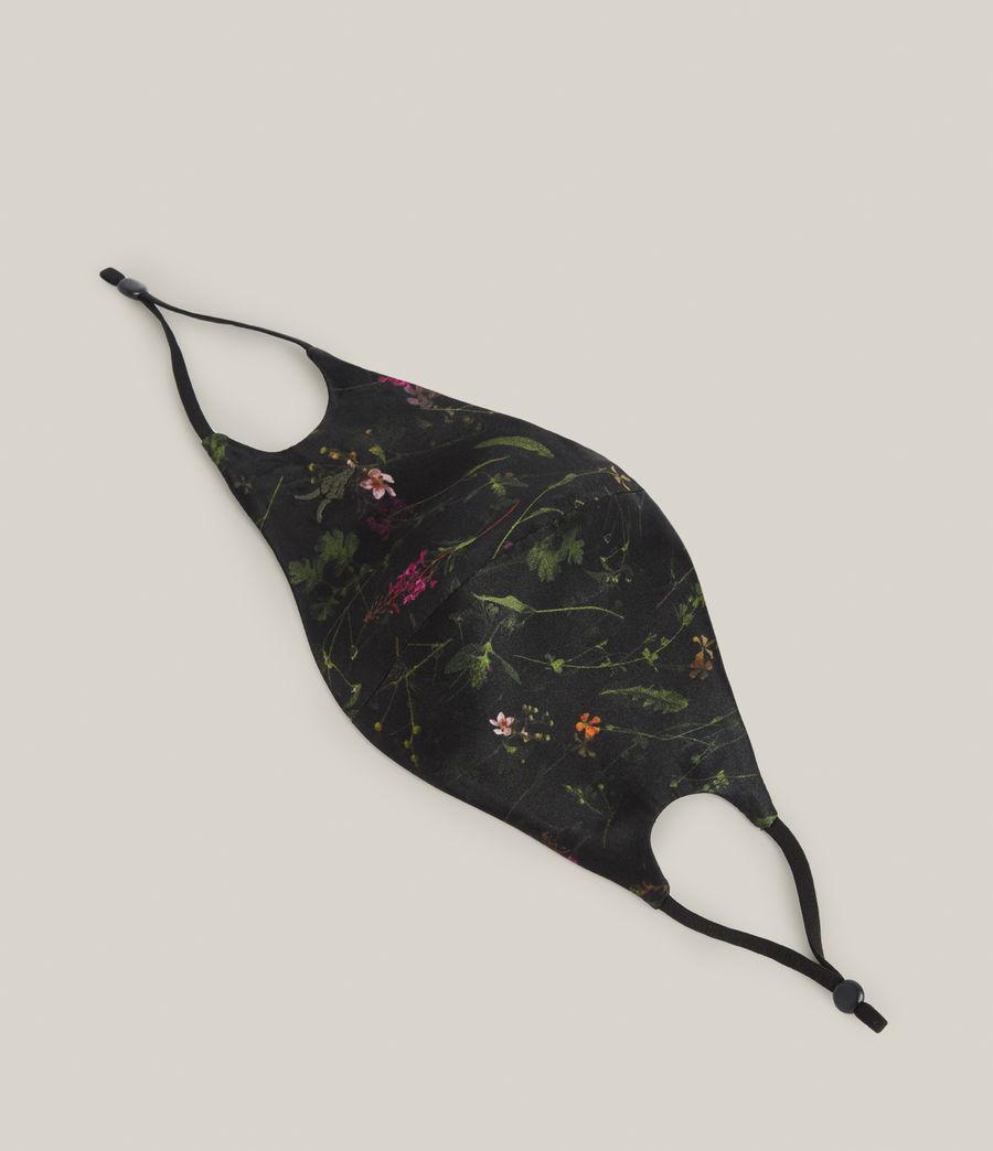 Women's Heligan Silk Blend Face Mask (black) - Image 5