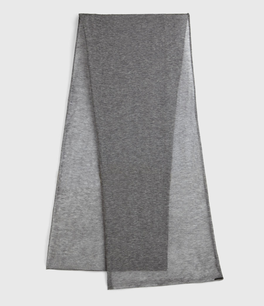 Womens Fine Gauge Wool Scarf (grey_marl) - Image 2