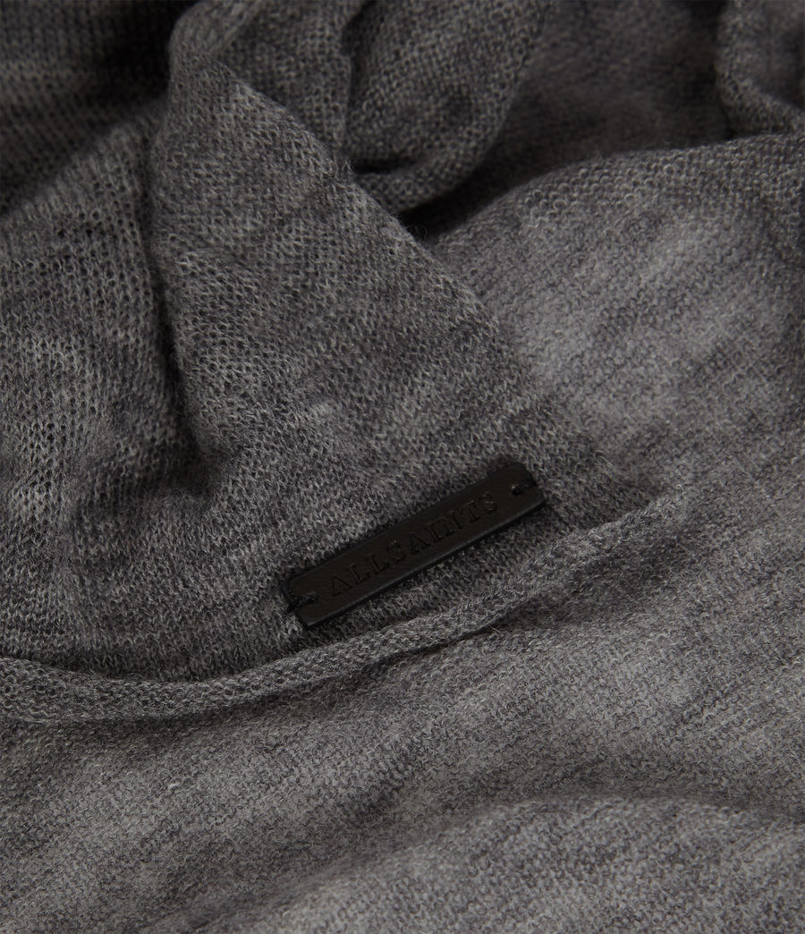 Womens Fine Gauge Wool Scarf (grey_marl) - Image 4