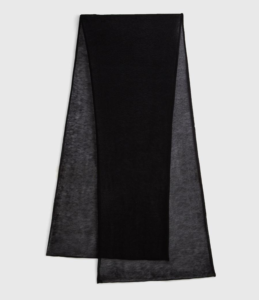 Damen Semi-transparenter Wollschal (black) - Image 1