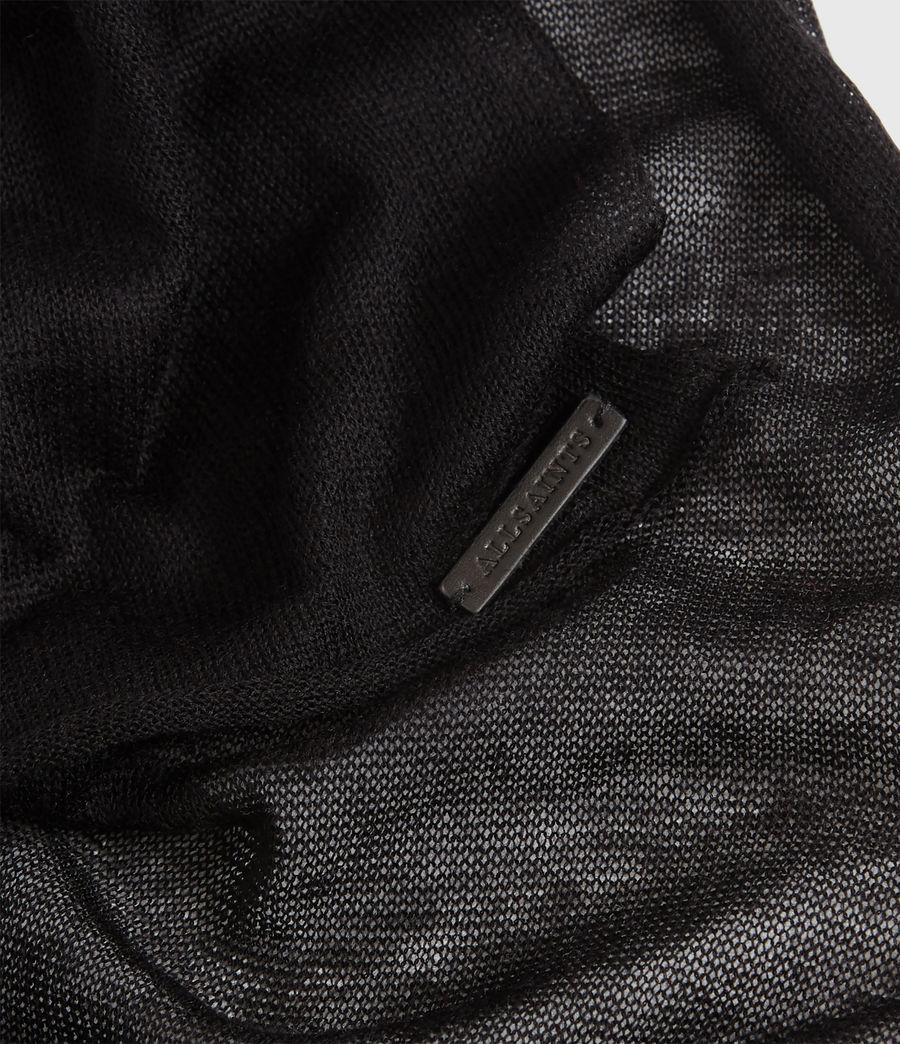 Women's Fine Gauge Wool Scarf (black) - Image 3