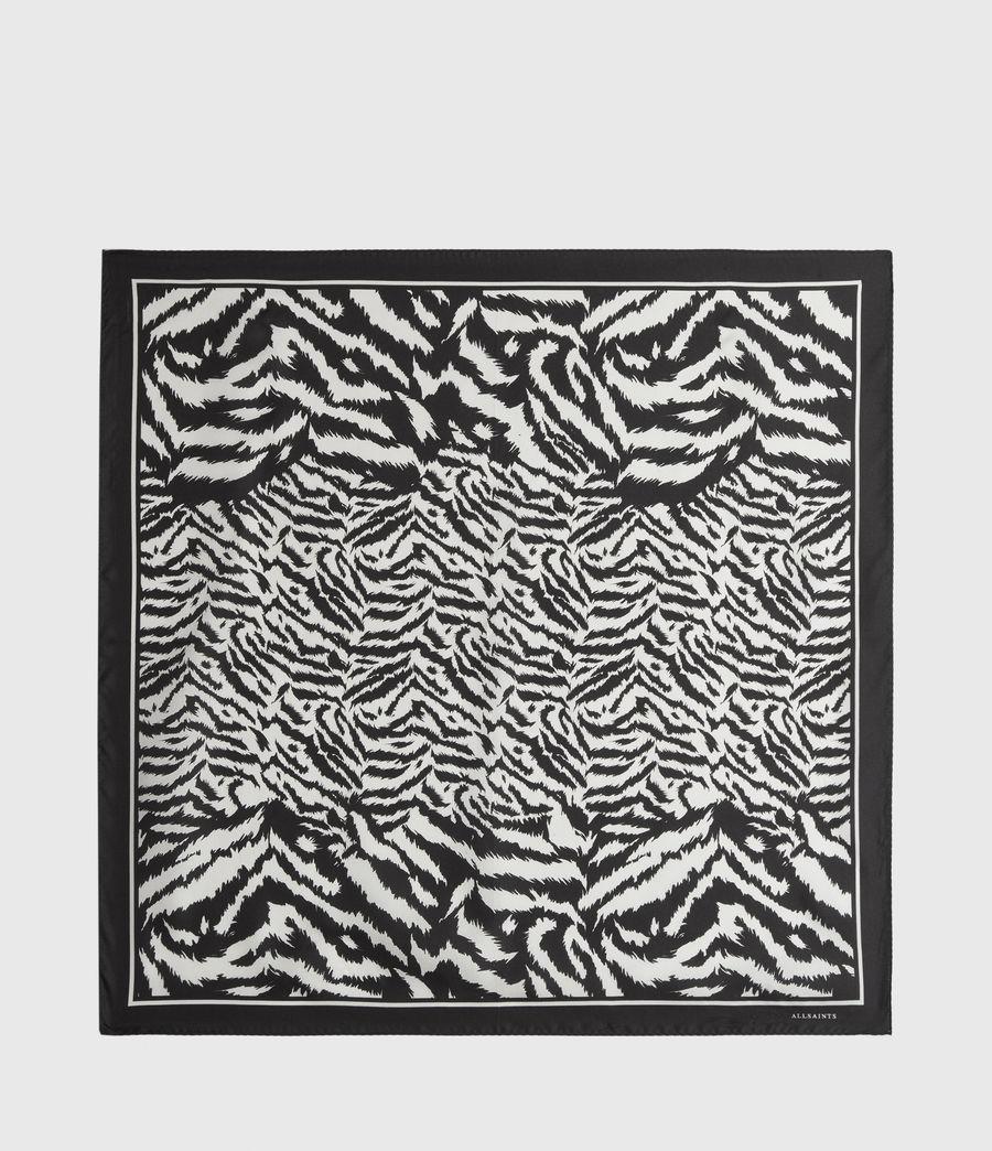 Womens Remix Silk Bandana (chalk_white) - Image 5