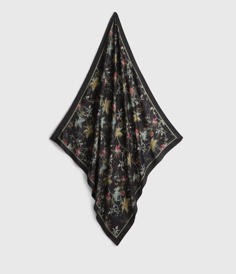 Mujer Evolution Silk Square Scarf (black) - Image 1