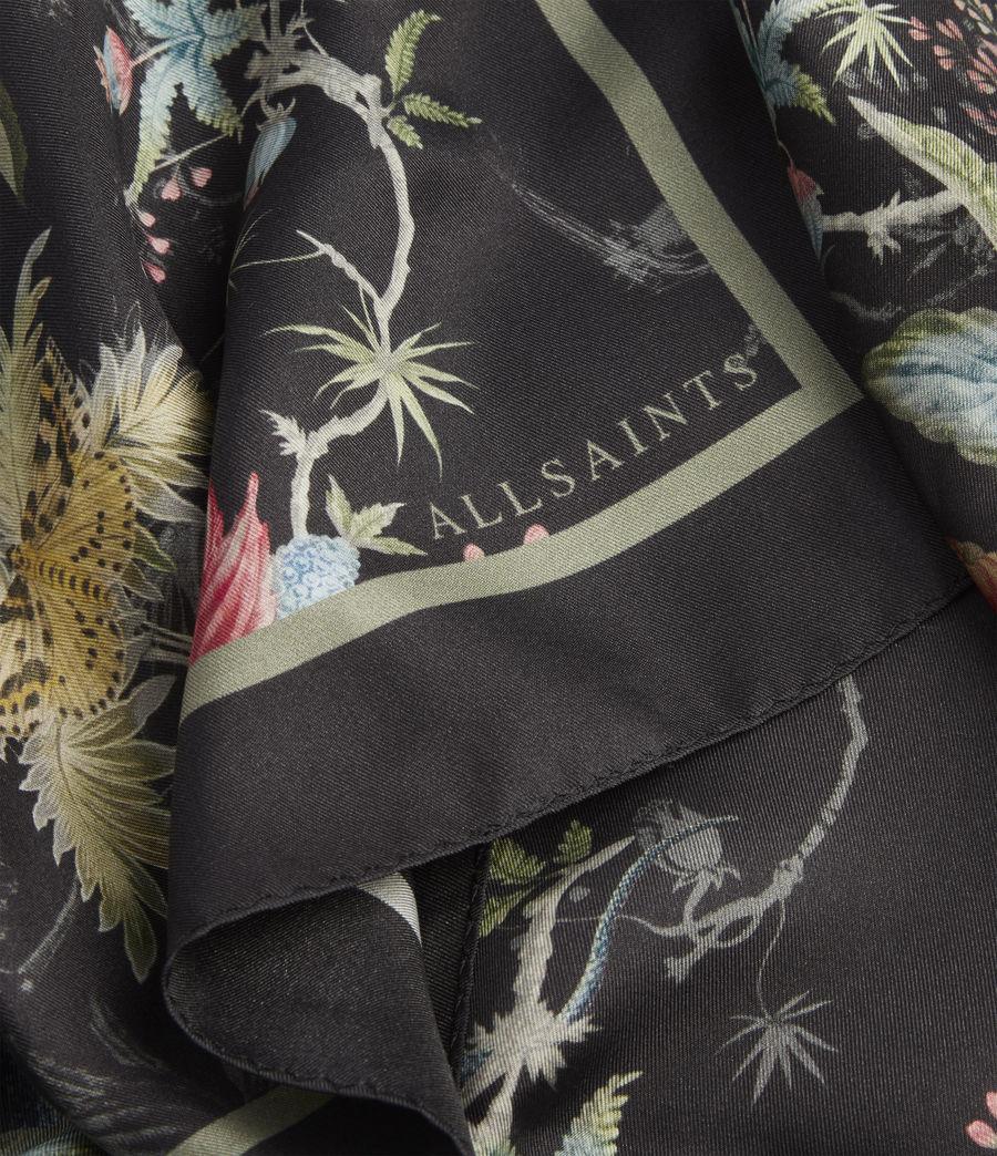 Mujer Evolution Silk Square Scarf (black) - Image 3
