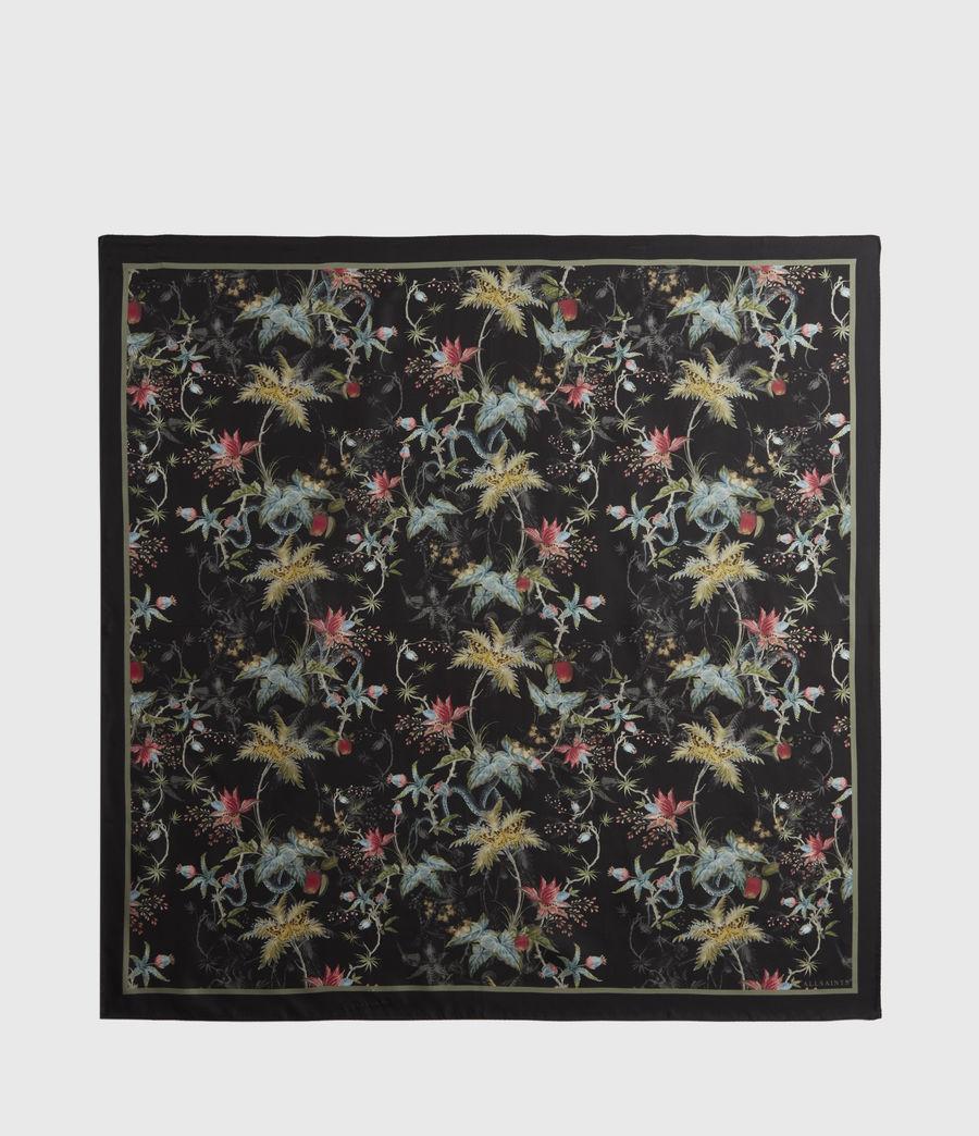 Mujer Evolution Silk Square Scarf (black) - Image 5