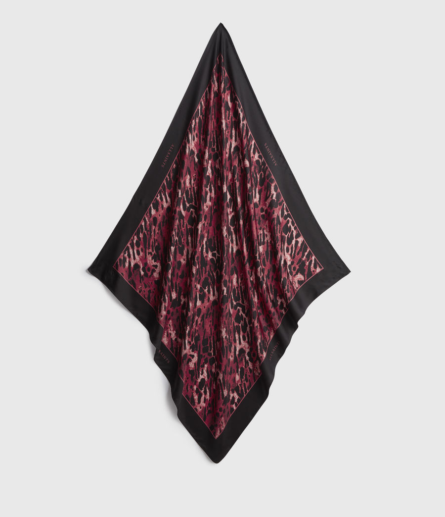 Femmes Ambient Silk Square Scarf (red) - Image 1