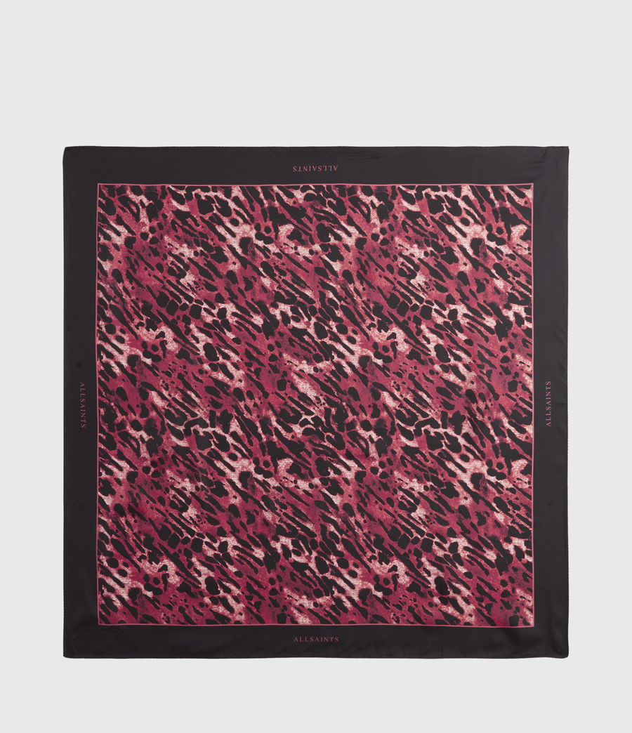 Women's Ambient Silk Square Scarf (red) - Image 3