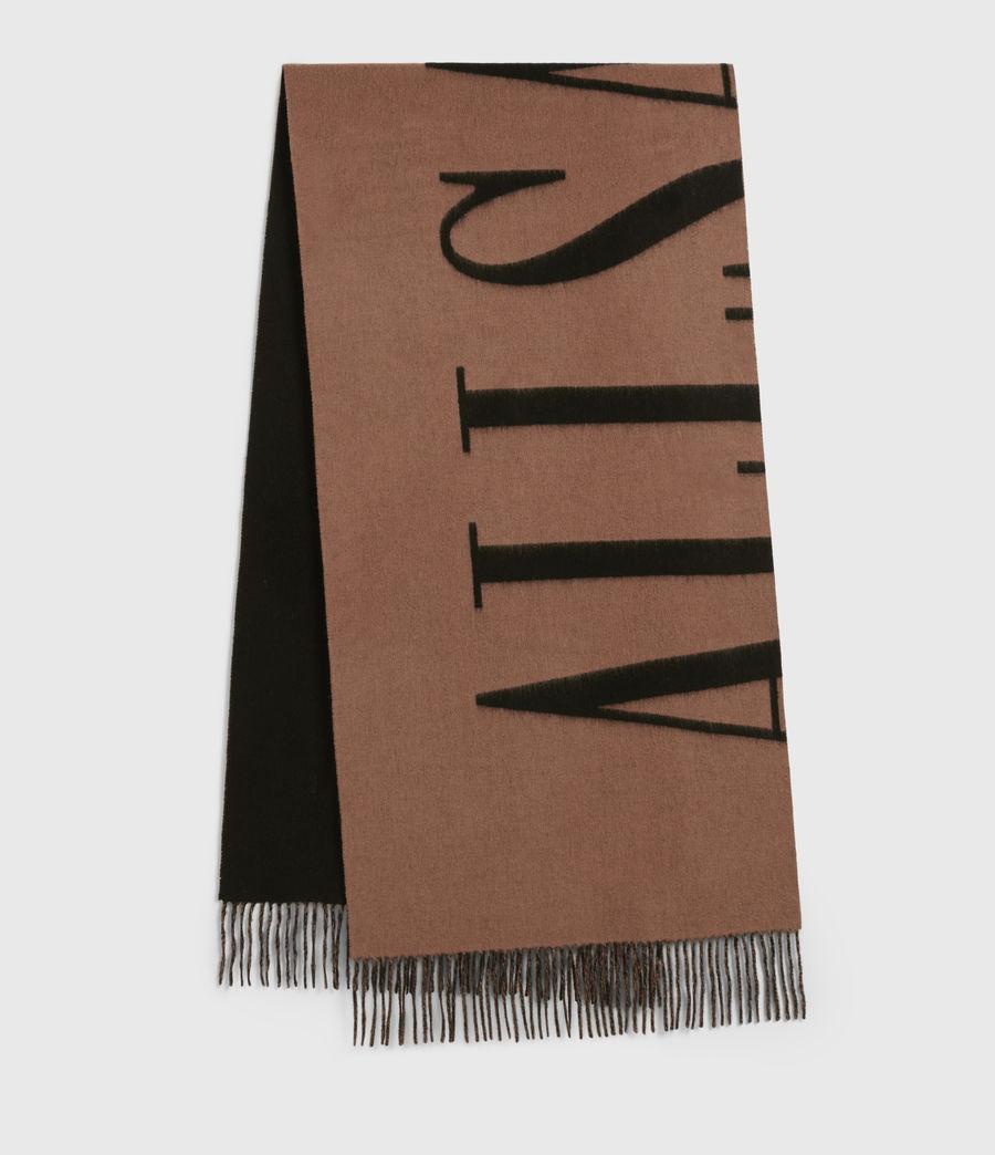 Womens Arlet Reversible Wool Scarf (brown_black) - Image 1