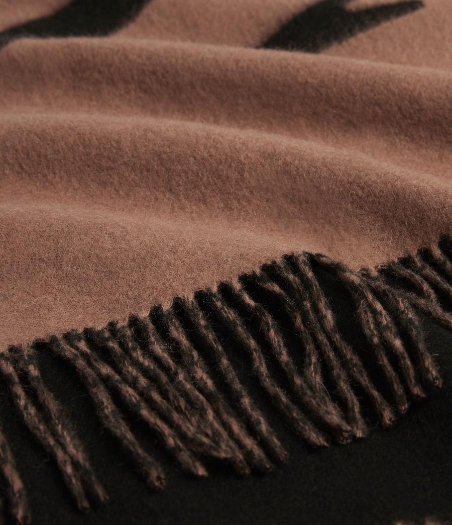 Womens Arlet Reversible Wool Scarf (brown_black) - Image 2