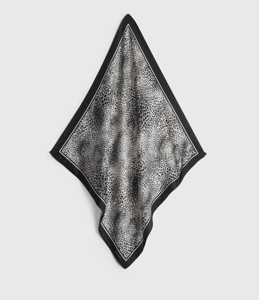 Women's Diffusion Silk Bandana (black) - Image 1