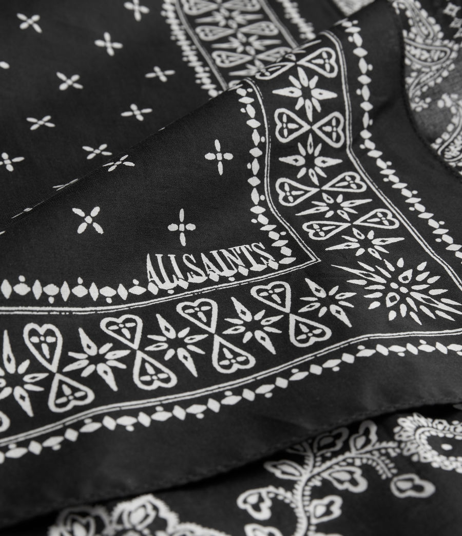 Women's AllSaints Organic Cotton Bandana (black) - Image 4