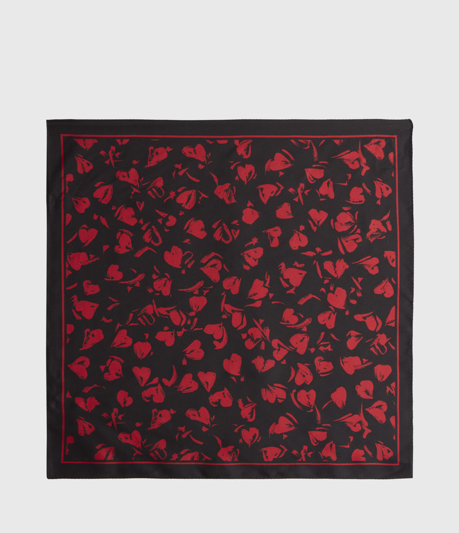 Women's Heartbreak Silk Bandana (black) - Image 5