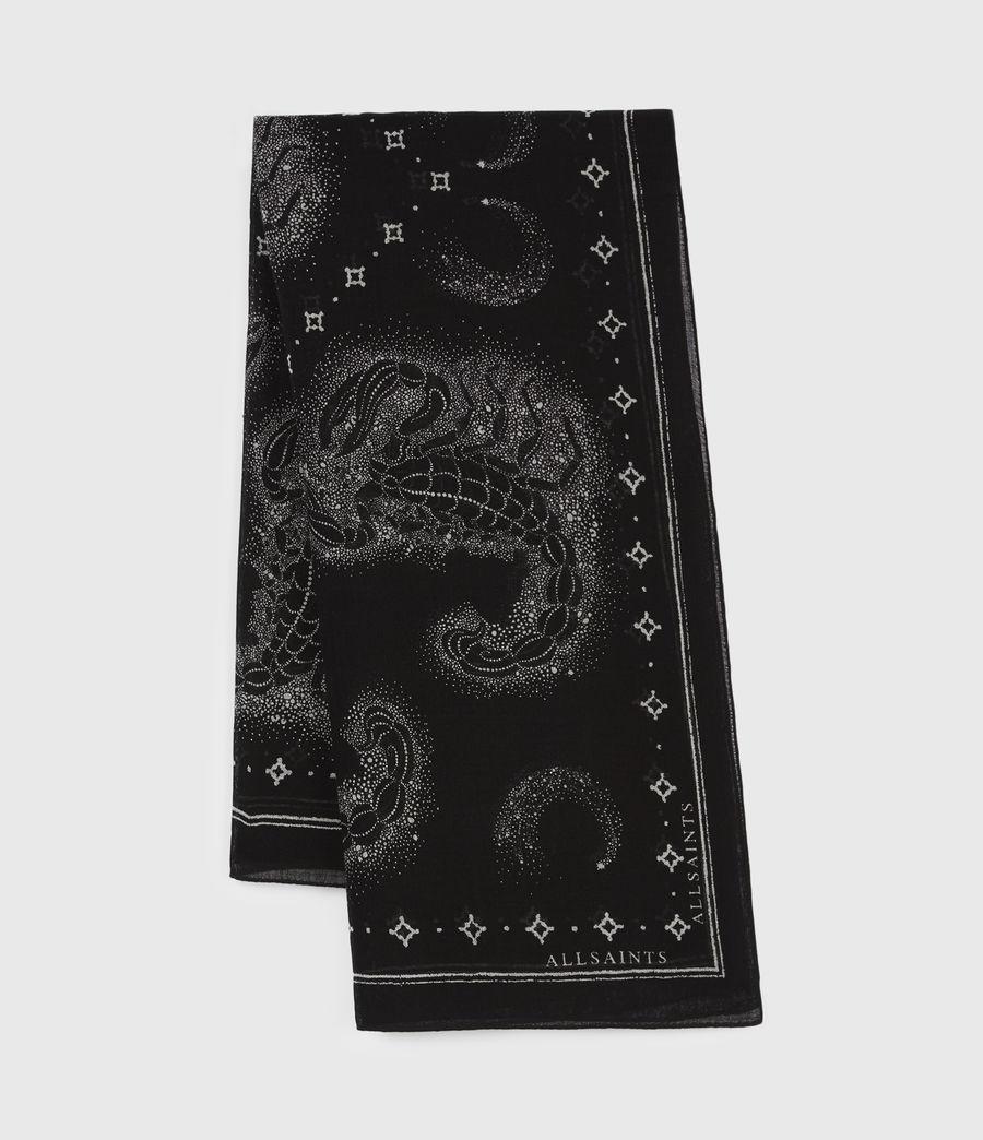 Womens Celeste Square Wool Scarf (black) - Image 3