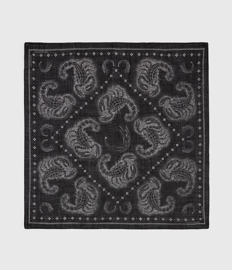 Womens Celeste Square Wool Scarf (black) - Image 4