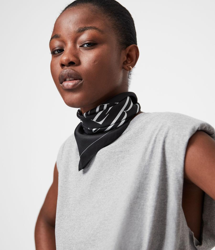 Women's Freedom Silk Bandana (black) - Image 1