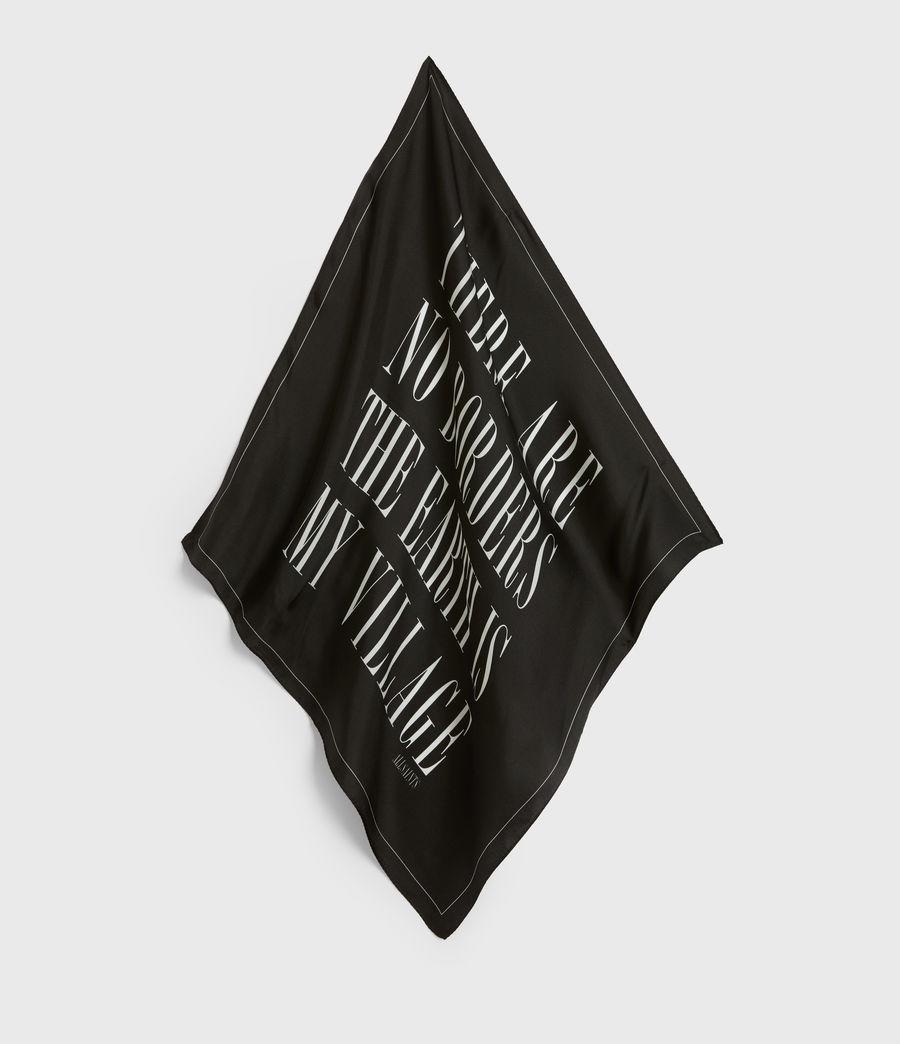 Women's Freedom Silk Bandana (black) - Image 2