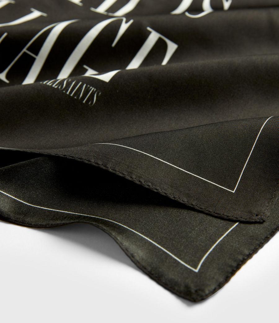Women's Freedom Silk Bandana (black) - Image 4