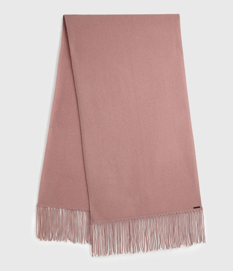 Womens Boiled Wool Scarf (pale_pink) - Image 1