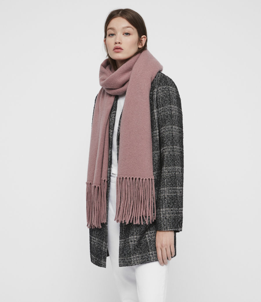 Womens Boiled Wool Scarf (grey_marl) - Image 2