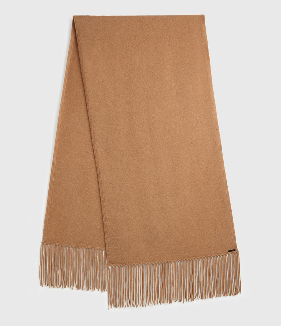 Womens Boiled Wool Scarf (toffee_brown) - Image 1