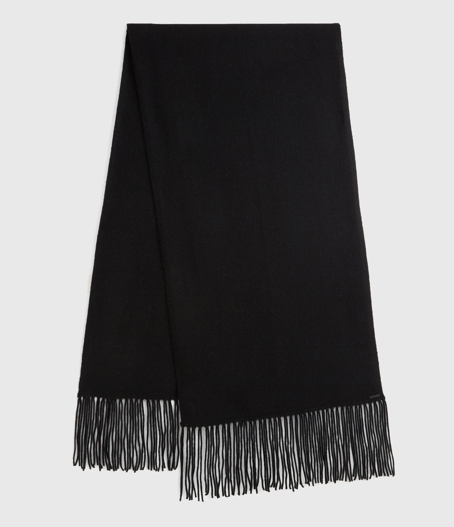 Womens Boiled Wool Scarf (black) - Image 1