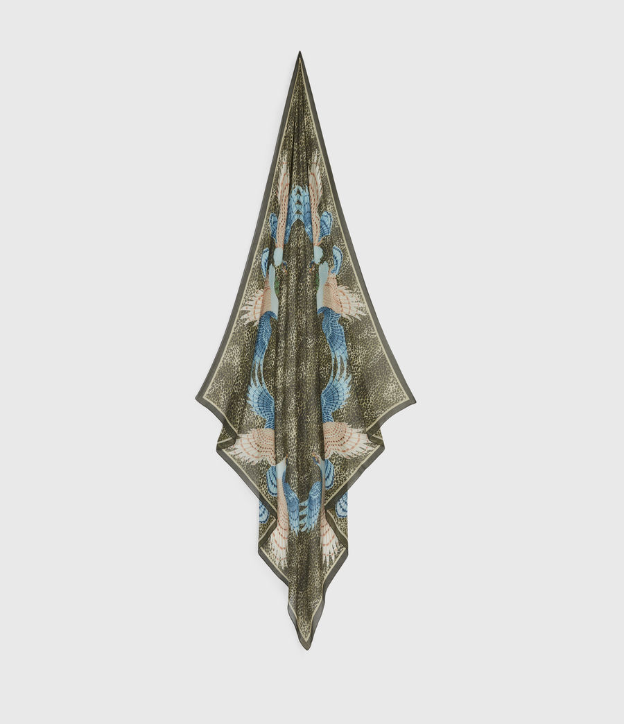 Womens Swoop Square Scarf (khaki_green) - Image 1