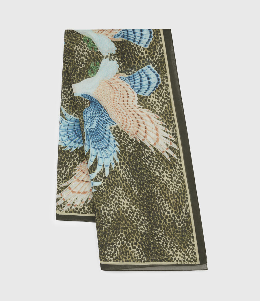 Womens Swoop Square Scarf (khaki_green) - Image 3