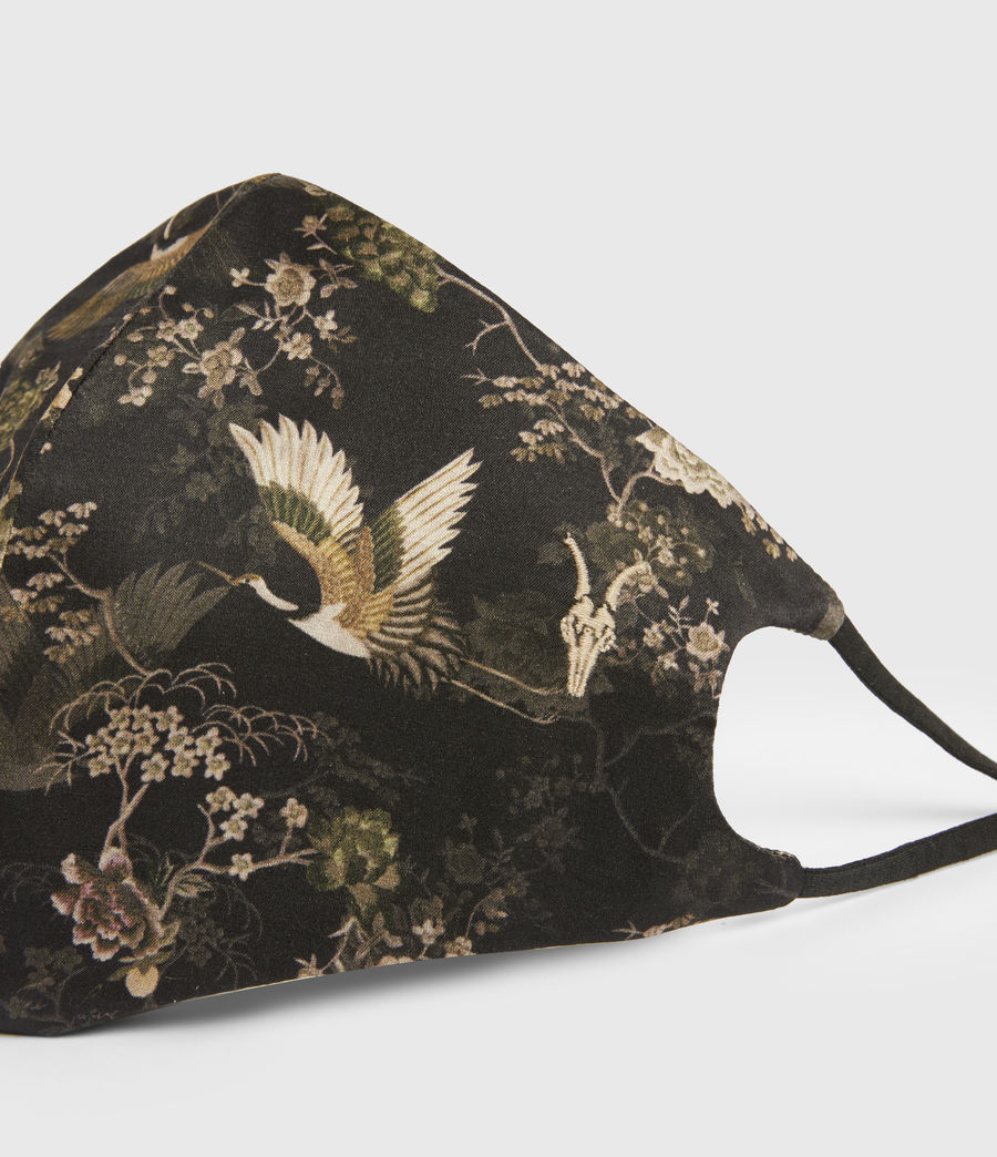 Women's Amare Silk Blend Face Mask (black) - Image 2