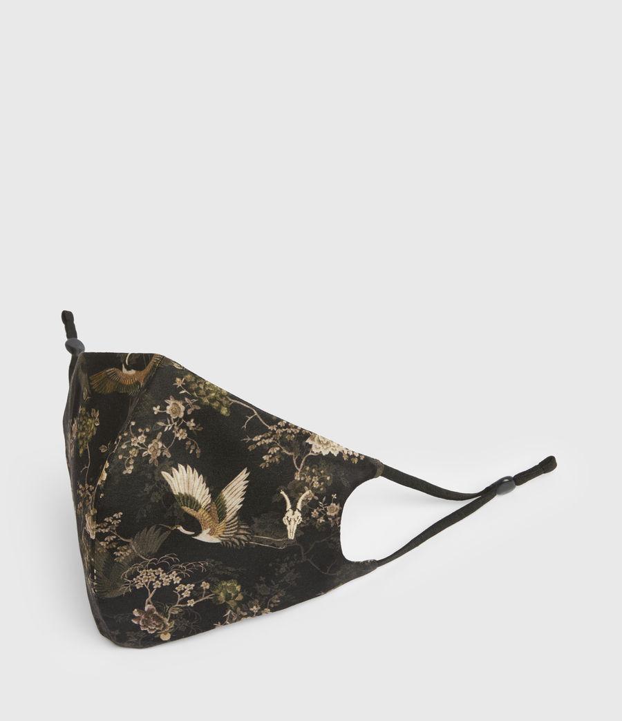 Women's Amare Silk Blend Face Mask (black) - Image 3