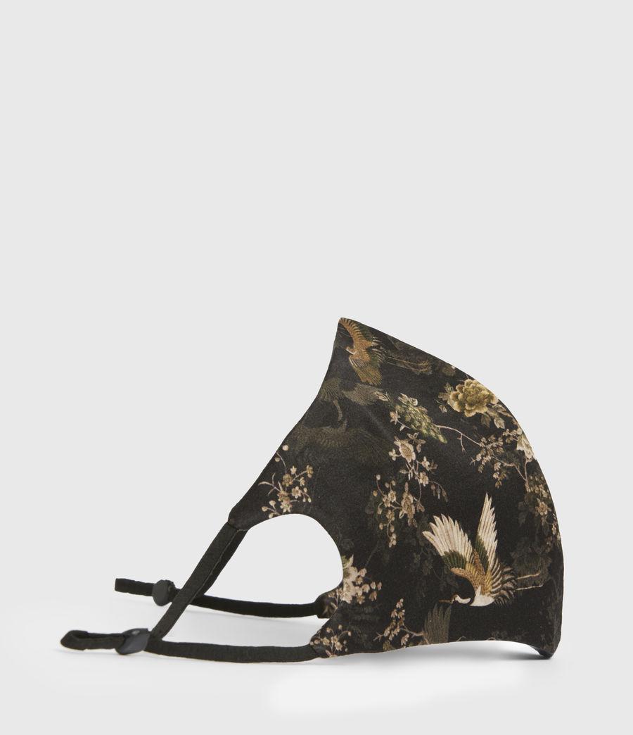 Women's Amare Silk Blend Face Mask (black) - Image 4