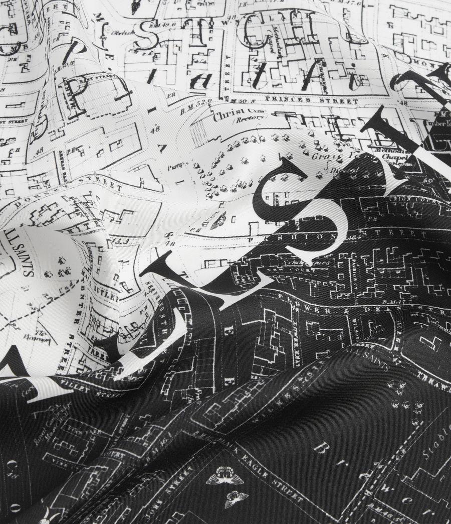 Women's Spitalfields Silk Bandana (black) - Image 3