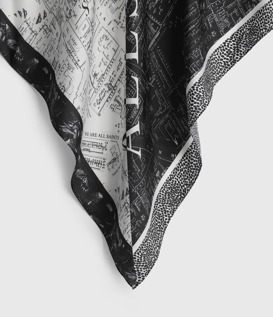 Women's Spitalfields Silk Bandana (black) - Image 4